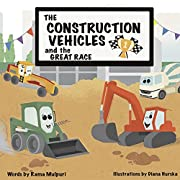 The Construction Vehicles and the Great Race: Who will win? Big vs Small , A story about determination and not giving up