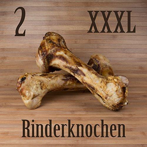 Kauzeit 2 Stück XXXL Rinderknocken Naturknochen Jumbo Rinder Knochen - wie Schinkenknochen