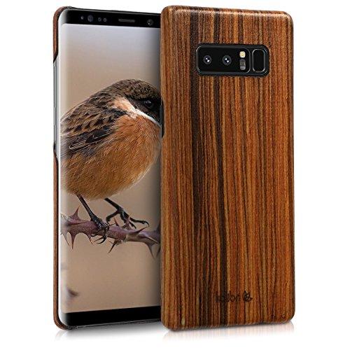 kalibri Samsung Galaxy Note 8 DUOS Hülle - Handy Holz Schutzhülle - Slim Cover Case Handyhülle für Samsung Galaxy Note 8 DUOS - Braun