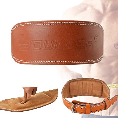 DFGENLY Genuine Leather Weight Lifting Belt for Men and Women Strength Training Waist Trimmer Belt for Fitness Workoutwidth 10cm-M