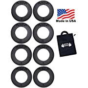 Micro Gainz Calibrated Fractional Weight Plate Set of .25LB-.50LB-.75LB-1LB Plates (8 Plate Set)- Designed for Olympic Barbells, Used for Strength Training & Micro Loading w/Carrying Bag, Made in USA