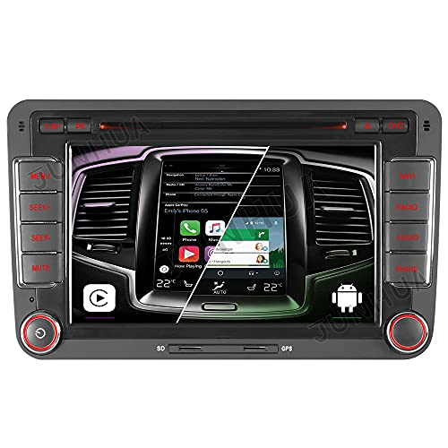 Android 10 Dual-Tuner FM Android Auto Carplay 2GB+32GB DSP Bluetooth 5.0 Autoradio DVD GPS Navigation für VW Passat B6 Golf 5 6 Touran Tiguan Transporter T5 Polo Caddy Skoda Octavia Seat WiFi OBD