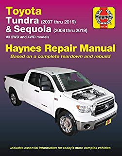 Toyota Tundra (2007 thru 2019) and Sequoia (2008 thru 2019): All 2WD and 4WD models (Haynes Repair Manual)