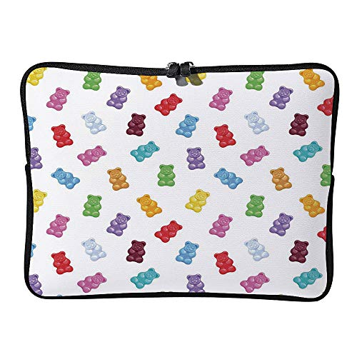 C COABALLA Kids, Colored Gummy Bears Candies Delicious Laptop Sleeve Case Neoprene Carrying Bag for Any Tablet/Notebook AM019298 11.6 inch/12 inch
