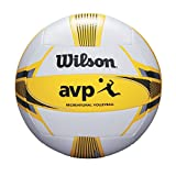 Wilson Pelota de vóley-playa, Exterior, Uso recreativo, Tamaño oficial, AVP II RECREATIONAL, Amarillo/Blanco, WTH6207XB