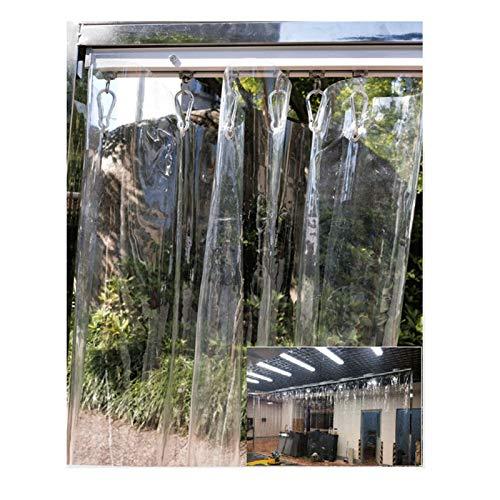 LJIANW-lonas impermeables exterior, Claro Cortina, Impermeable Tela De PVC Espesar 0,5 Mm A Prueba De Viento Cortina De La Ducha por Dormitorios Sala Baño, Fácil De Instalar