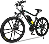 gotrax ebe2 26inch electric bike with 36v 12.5ah removable lithium-ion battery, 350w powerful motor