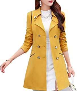 Women's Winter Lightweight Double Breasted Trench Coat Outwear