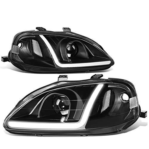 DNA MOTORING HL-LB-HC99-BK-CL1 LED-Tagfahrlicht für Honda Civic, Baujahr 99-00, Schwarz