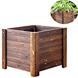 CJSWT Hochbeet-Set - Hochbeet-Gartenbox aus Holz für Gemüse/Blumen/Kräuter im Freien aus Massivholz, 50 * 50 * 45 cm