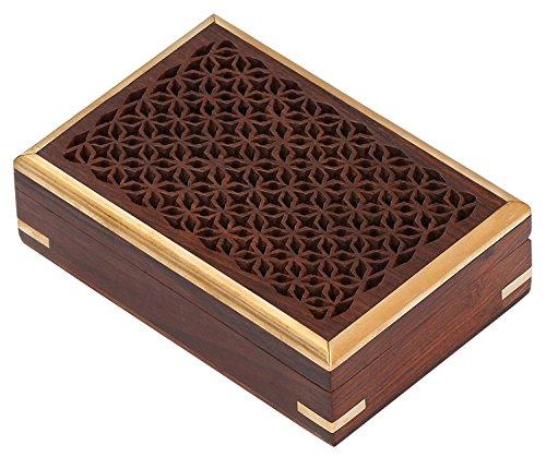 SouvNear - Contenitore per souvenir in legno, scatola portasigarette, contenitore per minuteria