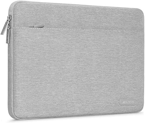 MOSISO Portatile Custodie Morbide Borsa Compatibile con 13-13,3 Pollici MacBook PRO, MacBook Air, Notebook Computer,Poliestere Orizzontale Laptop Sleeve,Grigio