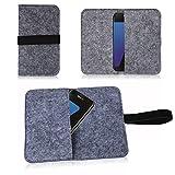 NAUC Filz Tasche für Smartphone Cover Hülle Case