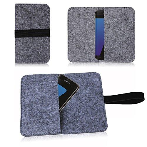 NAUC Filz Tasche für Smartphone Cover Hülle Hülle Schutzhülle Handy Flip Filztasche, Farben:Dunkel Grau, Handy Modelle für:LeEco Le 2
