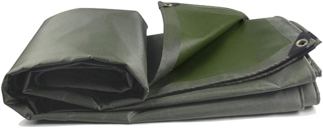 YAN FEI Bache Imperméable Lourde Toile épaisse résistant à l'usure Toile imperméable à la Pluie crème Solaire imperméable bache Camion abri d'auto Pluie Ombre canopée Huile (Taille   4x6m)