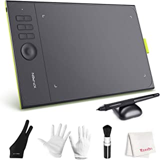 XP-PEN Star06C Drawing Tablet with 8192 Levels Battery-Free Pen Stylus, 6 Hot Keys, Dial Knob, 10x6 inch Area, for Digital Art Creation with Photoshop, Illustrator, GIMP, SAI and More