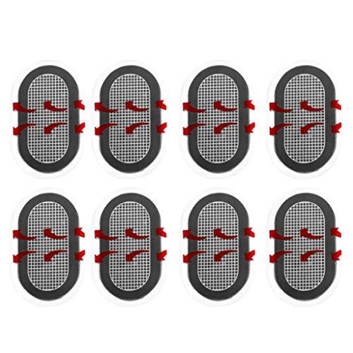 RK-HYTQWR - Elektroden Pads in Schwarz, Größe 9 cm / 3,54 × 6 cm / 2,36