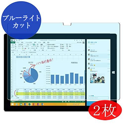 VacFun 2 Piezas Filtro Luz Azul Protector de Pantalla Compatible con Microsoft Surface Pro 3 12' PRO3, Screen Protector Película Protectora (Not Cristal Templado) Anti Blue Light Filter New Version