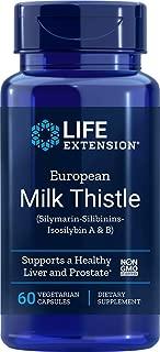 Life Extension European Milk Thistle (Silymarin-Silibinins-Isosilybin A & B), 750 mg, 60 Vegetarian Capsules
