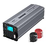 GIANDEL Pure Sine Wave Power Inverter 5000 Watt Converts DC 12 Volt to AC 120 Volt with Hard Wire Terminals & Push Mount Remote Control with LCD Display for Solar System RV Trucks Camper Boats