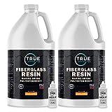 TRUE COMPOSITES Polyester Fiberglass Laminating Resin-Grade A, 2 Gallon Low Viscosity Coating...