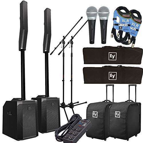 Electro-Voice Evolve 50 Column Speaker System - Black Complete Bundle