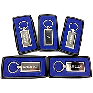Personalised Mens Name Keyring Key Chain Gift Boxed - Initial A/Aaron/Adam/Adrian/Alan/Alex/Alistair/Allan/Andrew/Andy/Anthony/Ashley/Initial B/Barry/Ben/Bill/Bob/Bradley/Brian (Adrian)