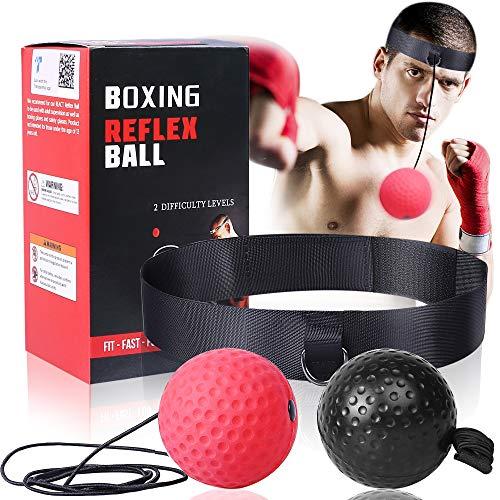 Pelota de boxeo mejorada para entrenamiento de boxeo, entrenamiento de velocidad Mma adecuado para adultos/niños, el mejor equipo de boxeo para entrenamiento, coordinación mano-ojo y fitness