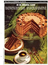 McCall's Cooking School Recipe Card: Cakes, Cookies 3 - Mocha Cream Cake (Replacement McCall's Recipage or Recipe Card For 3-Ring Binders)