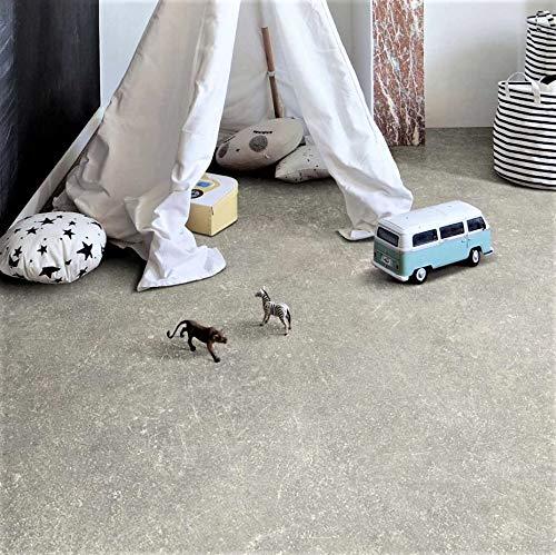 PVC Bodenbelag in langlebiger Betonoptik (9,45€/m²), Zuschnitt (2m breit, 2,5m lang)
