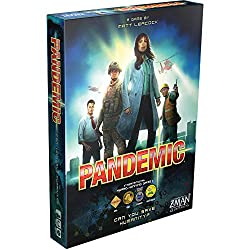A picture of the Pandemic board game box.