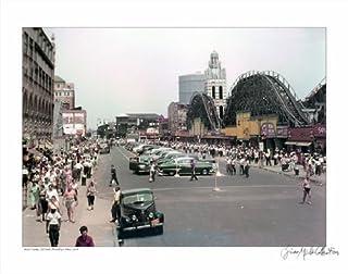 Coney Island Brooklyn NY 1950 - 14x18 - Standard Black 1-1/4 Frame