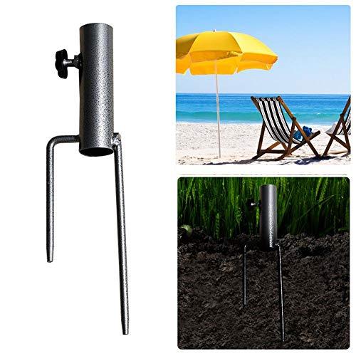 lā Vestmon Base De Parapluie Portable, Support d'ancrage De Parapluie Robuste Parapluie De Patio Anchor en Acier Parapluie De Plage Support De Tarière À Herbe en Métal pour Park Patio Beach