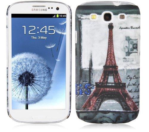 Cadorabo – TPU Hard Cover per > Samsung Galaxy S3 / S3 Neo < - Case Cover Involucro Bumper Accessorio in Design: Paris - Torre-Eiffel