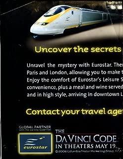 JOIN THE EUROSTAR QUEST WITH THE DA VINCI CODE /RARE POSTER /UNIQUE MOVIE TIE-IN