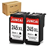 JUNCAI Remanufactured 245XL Black Ink Cartridge Replacement for Canon PG-245 PG-245XL PG 245 245XL 245 XL Used in Canon PIXMA MX492 MX490 MG2920 MG2420 MG2520 MG2522 IP2820 (2 Black)