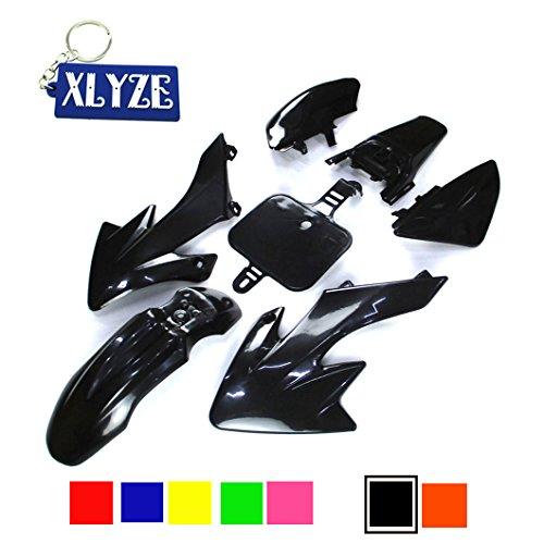 XLYZE Negro carenado kit de defensa de plástico para Honda Piranha CRF50 XR50 50cc 70cc 90cc 110cc 125cc 140cc 150cc 160cc suciedad Pit Bike SDG SSR