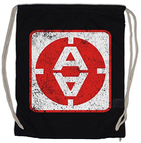 Urban Backwoods Vintage Alpha MOONBASE Door Logo Bolsa de Cuerdas con Cordón...