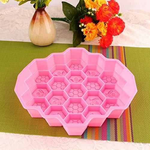 Molde para sartén y hielo, molde para galletas Molde para chocolate impermeable, fácil de limpiar, moldes para dulces, molde de silicona para abejas para el hogar