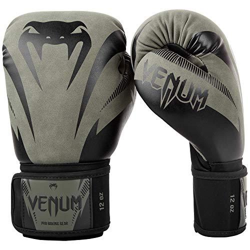 Venum Unisex– Erwachsene Impact Boxhandschuhe, Kaki/Schwarz, 12 oz