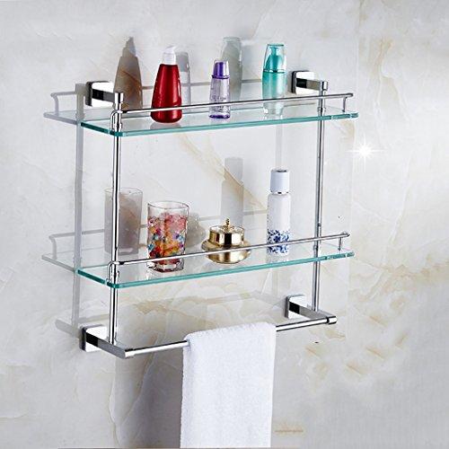 Tous les étagères de salle de bain en bronze pour serviettes de bain à double couche/salle de bains