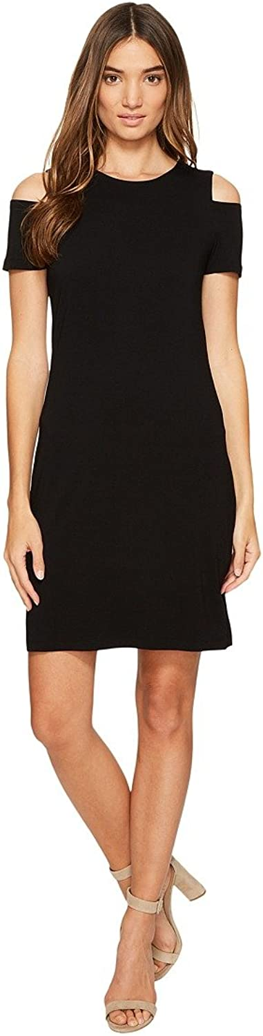 1.State Womens Heathered Cold Shoulder Casual Dress