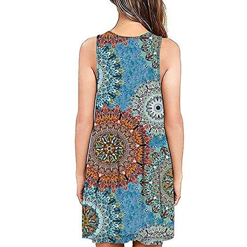 Damen Kleider Elegant Casual Ärmellos Strandkleid Kleid Plus Size Rundausschnitt Tops Longshirt Böhmisch Kleid Frauen Kleidung Sommerkleider