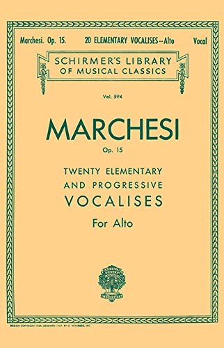 20 Elementary and Progressive Vocalises, Op. 15: Schirmer Library of Classics Volume 594 Low Voice