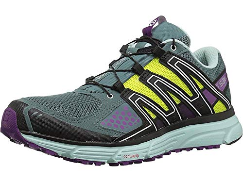 Salomon Women's X-Mission 3 Trail Running Shoes, North Atlantic/Eggshell Blue/Grape Juice,...