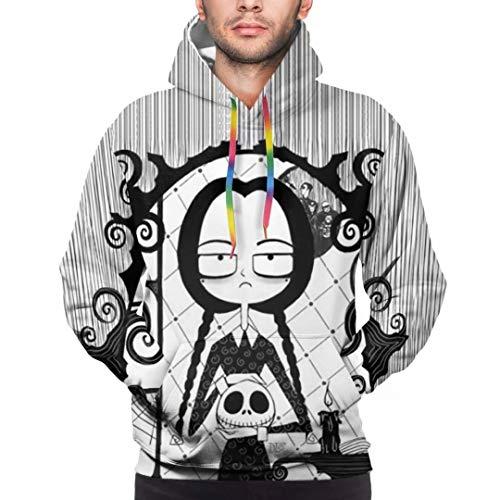 Disfraz de Jack Skellington Sudadera con Capucha Unisex con Estampado 3D Sudadera navideña Chaqueta Abrigo Jack Skellington Disfraz de Cosplay Jersey de Manga Larga Tops para Mujeres Hombres