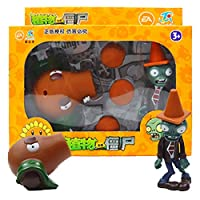 プラントvsゾンビおもちゃPVZ豆鉄砲発射プラント 男の子の子供のためのPVCアクションアニメフィギュアモデルのおもちゃクリスマス新年の贈り物