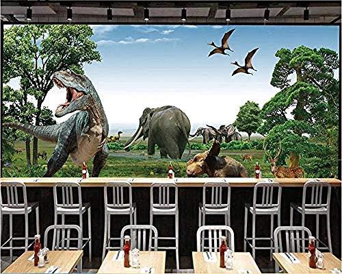 Dinosaurussen van het bos van het jaar serie dieren Hd druk wanddecoratie Art Poster groot wandbehang doek slaapkamer modern 3D fotobehang woonkamer 350cm×256cm