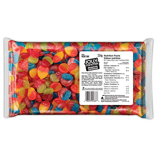 JOLLY RANCHER Misfits Gummy Candy, Summer Candy, 2.5kg Bulk Bag