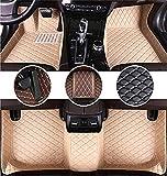 Youthus Alfombrillas De Coche Personalizadas Alfombras De Pie para Chevrolet Cruze 2009-2014 Cobertura Completa Impermeable Antideslizante Alfombra de Cuero, Beige